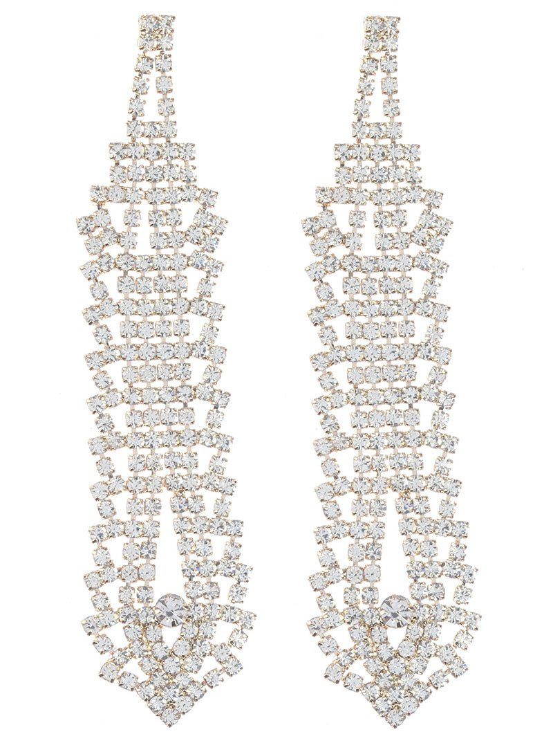 Alluring layered rhinestone chandelier earrings whimsia alluring layered rhinestone chandelier earrings aloadofball Images