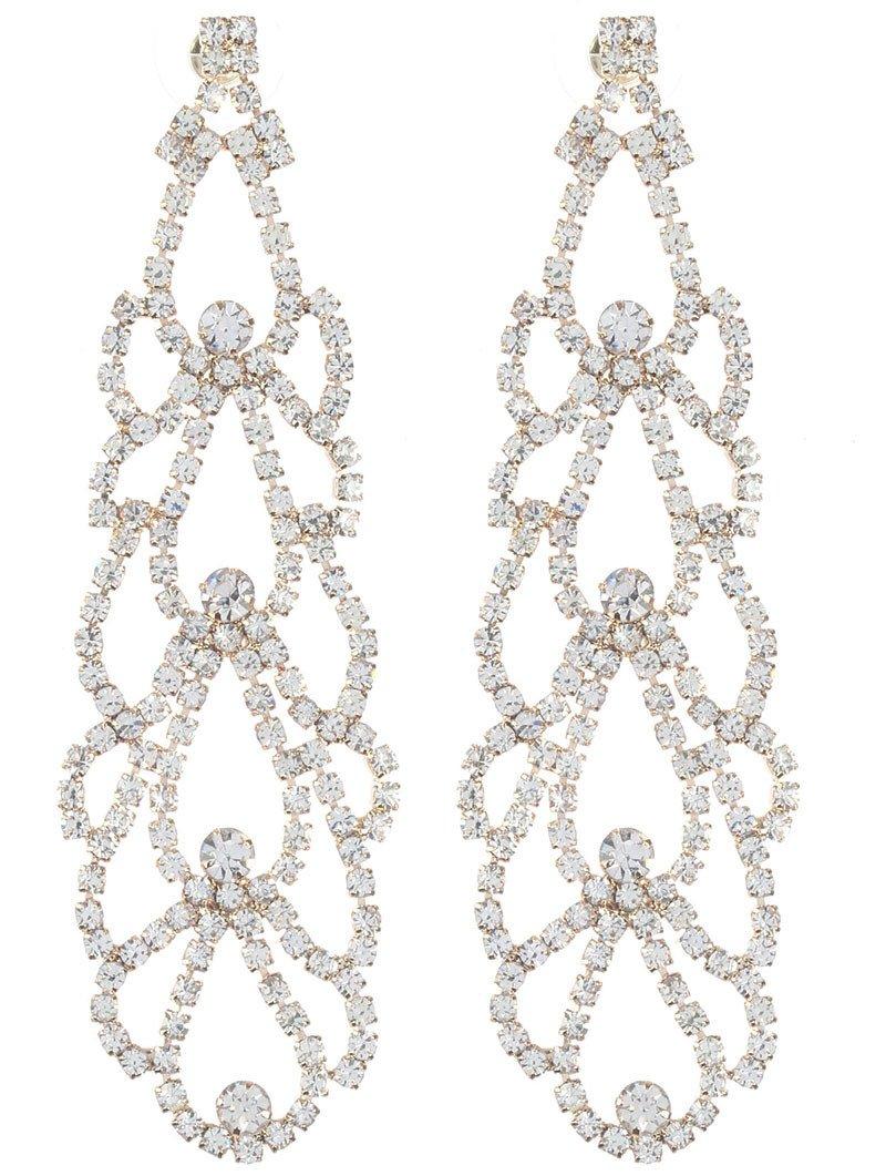 Whimsical layered rhinestone chandelier earrings whimsia whimsical layered rhinestone chandelier earrings aloadofball Images