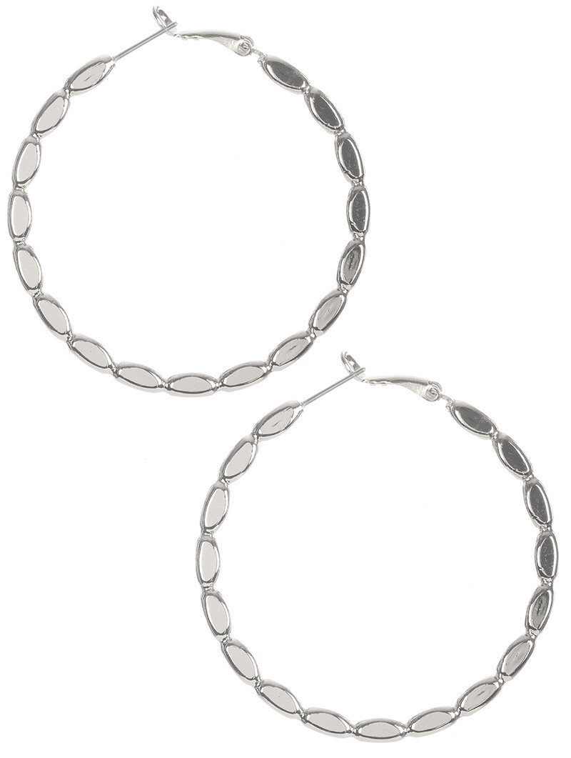 Alluring Scalloped Br Metal Hoop Earrings